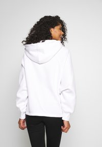Missguided - LOOPBACK DRAWSTRING HOODY - Bluza z kapturem - white - 2