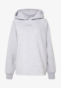 Missguided - LOOPBACK DRAWSTRING HOODY - Bluza z kapturem - grey - 4