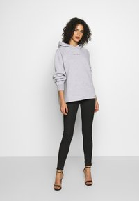 Missguided - LOOPBACK DRAWSTRING HOODY - Bluza z kapturem - grey - 1