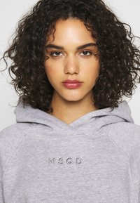 Missguided - LOOPBACK DRAWSTRING HOODY - Bluza z kapturem - grey - 3
