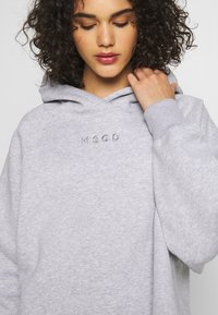 Missguided - LOOPBACK DRAWSTRING HOODY - Bluza z kapturem - grey - 5