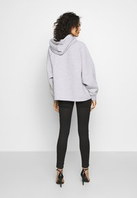 Missguided - LOOPBACK DRAWSTRING HOODY - Bluza z kapturem - grey - 2