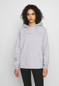Missguided - LOOPBACK DRAWSTRING HOODY - Bluza z kapturem - grey - 0