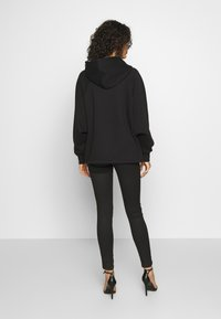Missguided - LOOPBACK DRAWSTRING HOODY - Hoodie - black