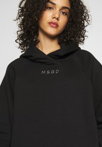 Missguided - LOOPBACK DRAWSTRING HOODY - Hoodie - black - 5
