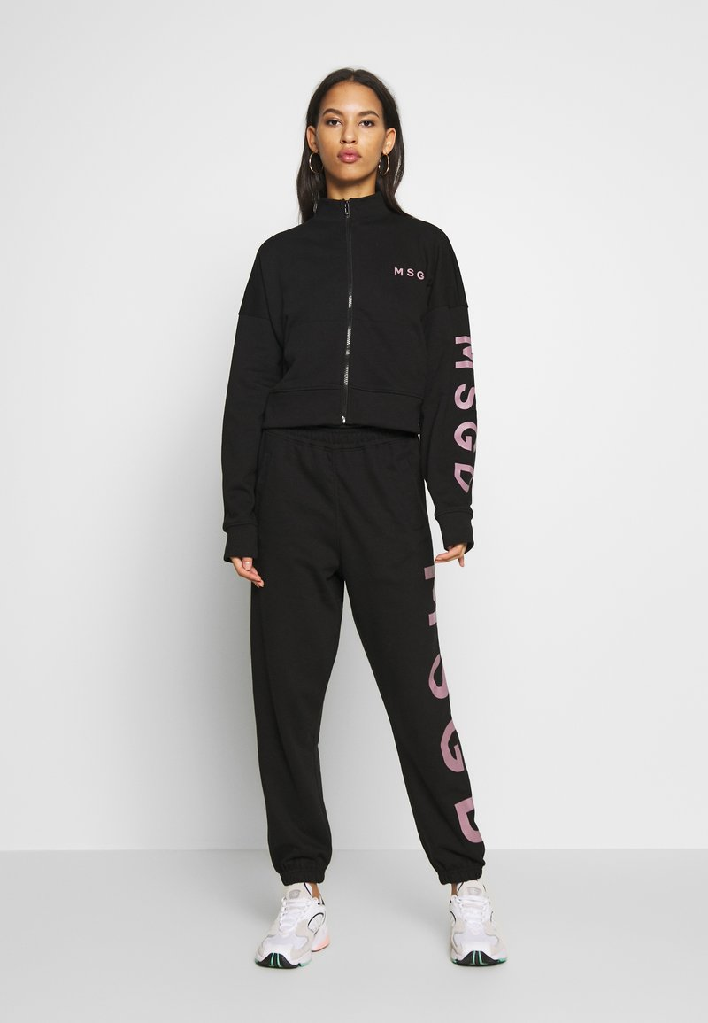 Missguided - JOGGER AND JACKET SET - Zip-up hoodie - black