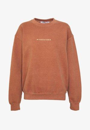 WASHED - Sweatshirt - rust