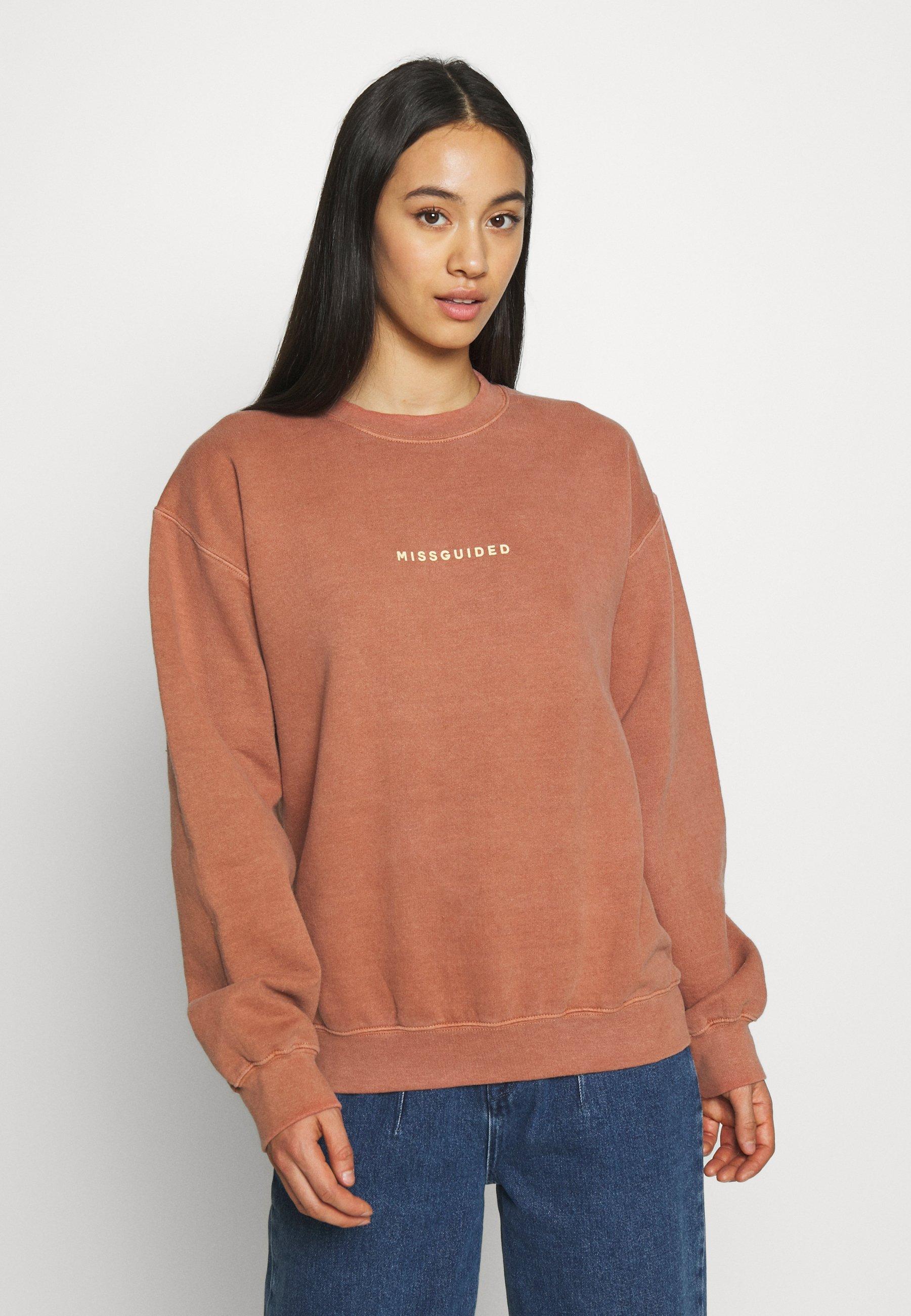 Missguided Tall BRUSHBACK  - Sweatshirt - rust