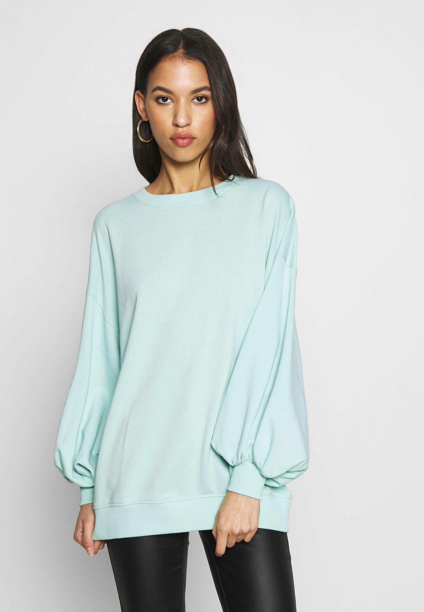 Missguided EXTREME OVERSIZED - Bluza - pastel green