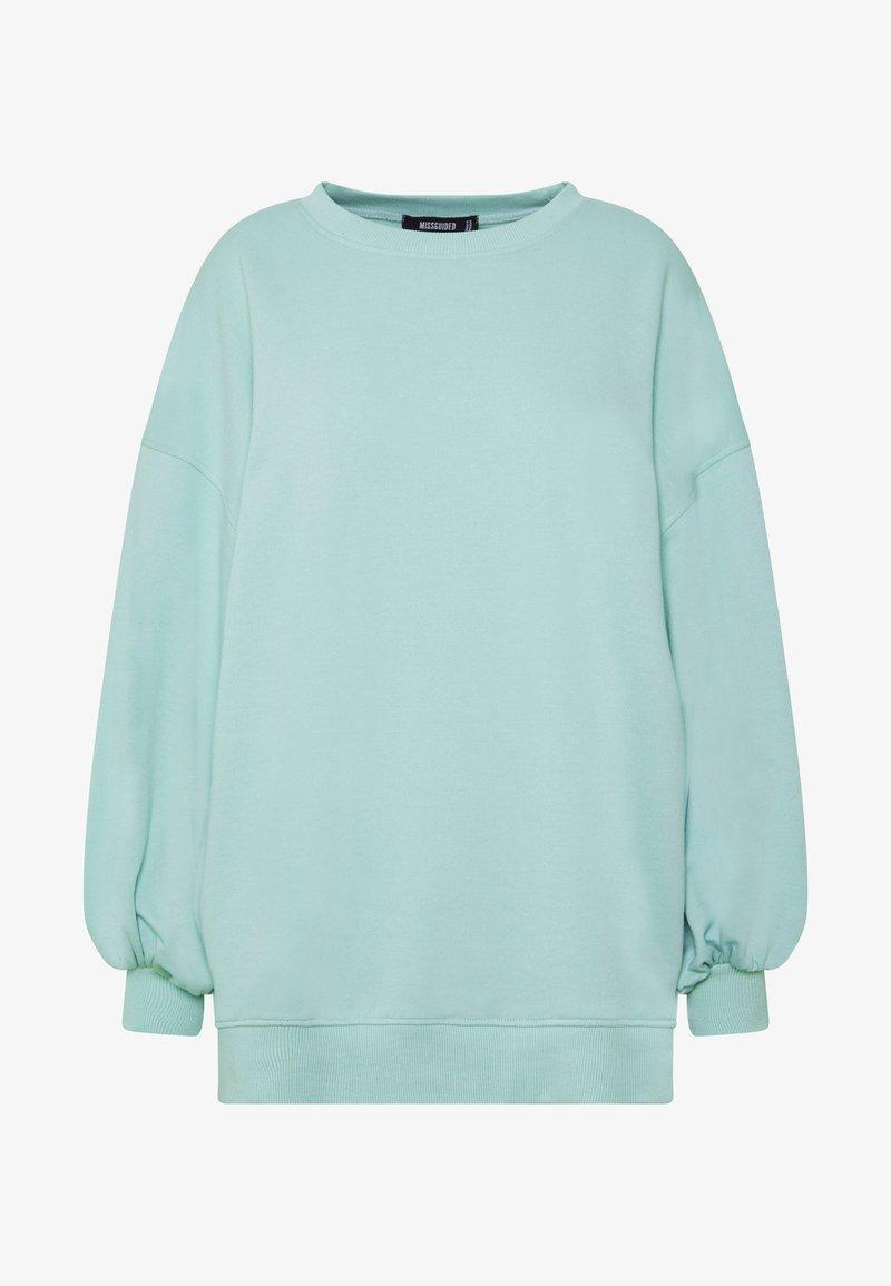 Missguided EXTREME OVERSIZED - Sweatshirt - pastel green