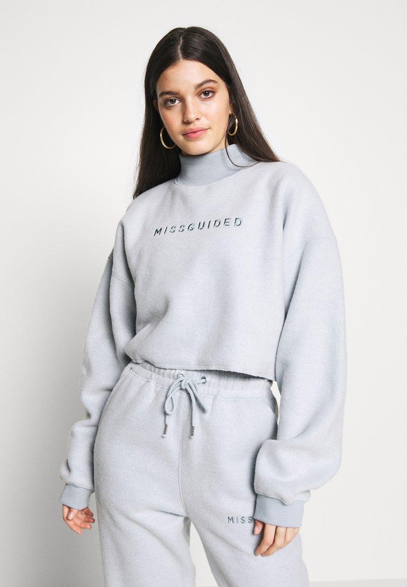 Missguided - NEW SEASON CROPPED - Sweatshirt - powder blue