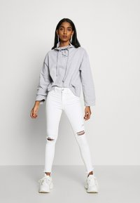Missguided - HIGH NECK TIE DETAIL LONG SLEEVE - Mikina - grey - 1