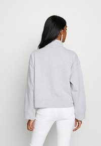 Missguided - HIGH NECK TIE DETAIL LONG SLEEVE - Mikina - grey - 2