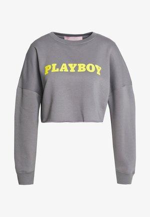PLAYBOY LOGO CROP - Sweatshirt - charcoal