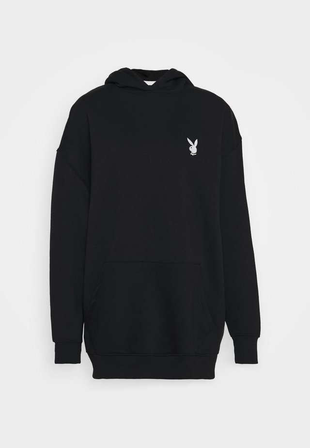 PLAYBOY CHERRY GRAPHIC HOODY DRESS - Hoodie - black