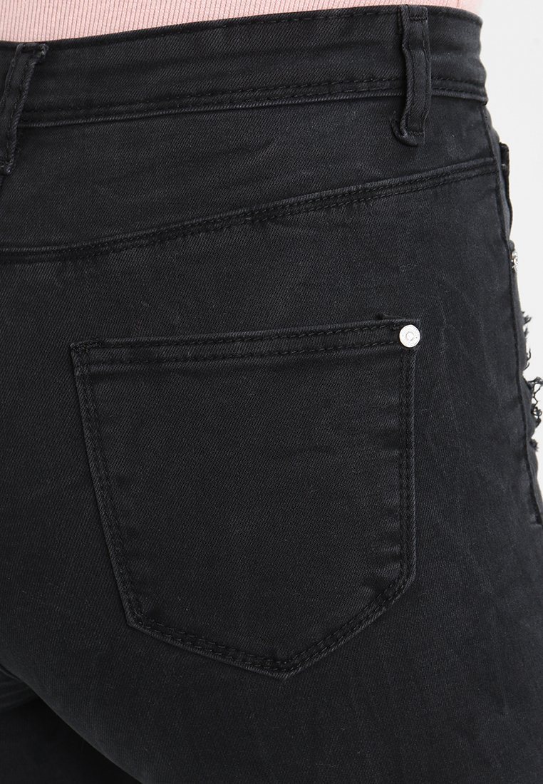 Missguided SINNER HIGHWAISTED AUTHENTIC RIPPED  - Jeansy Skinny Fit - dark grey
