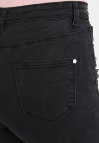 Missguided - SINNER HIGHWAISTED AUTHENTIC RIPPED  - Jeans Skinny - dark grey - 5