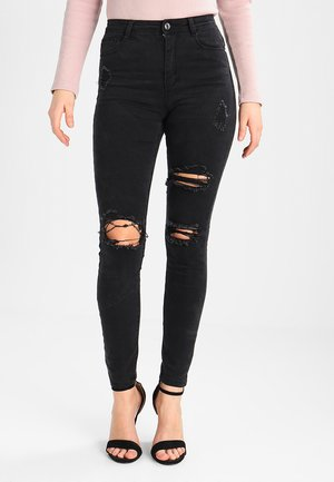 SINNER HIGHWAISTED AUTHENTIC RIPPED  - Jeans Skinny Fit - dark grey