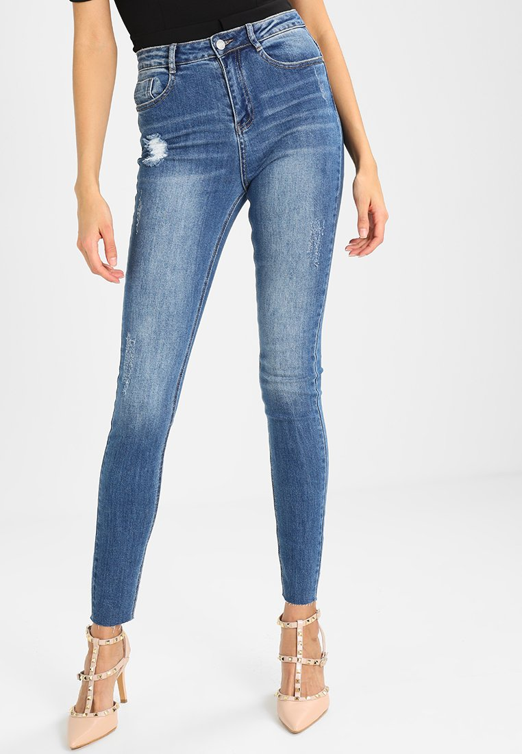 Missguided - CLEAN SINNER HIGH WAIST AUTHENTHIC  - Jeans Skinny Fit - mid blue