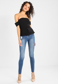 Missguided - CLEAN SINNER HIGH WAIST AUTHENTHIC  - Jeans Skinny Fit - mid blue - 1