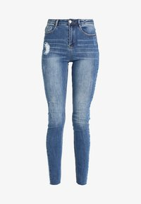 Missguided - CLEAN SINNER HIGH WAIST AUTHENTHIC  - Jeans Skinny Fit - mid blue - 4
