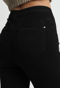 Missguided - VICE EXPOSED ZIP BUTTON DETAIL - Jeans Skinny Fit - black - 5