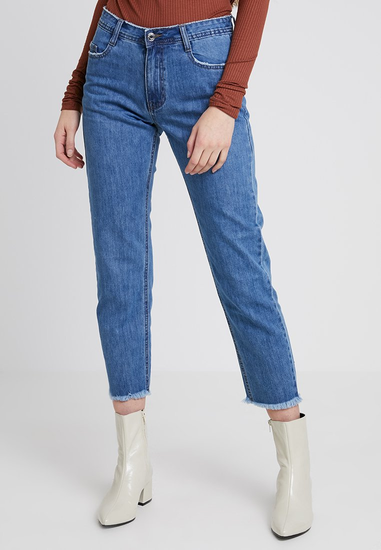Missguided - WRATH MID RISE CLEAN CUT  - Jeans a sigaretta - vintage blue