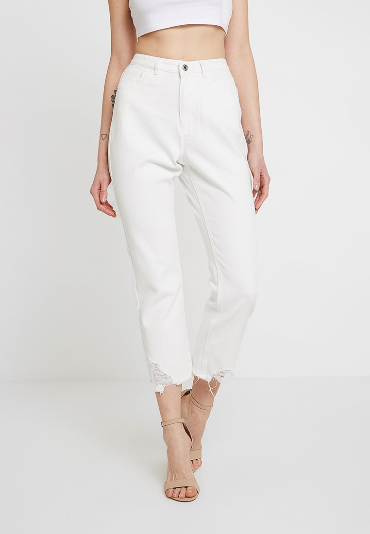 Missguided - WRATH - Relaxed fit jeans - white