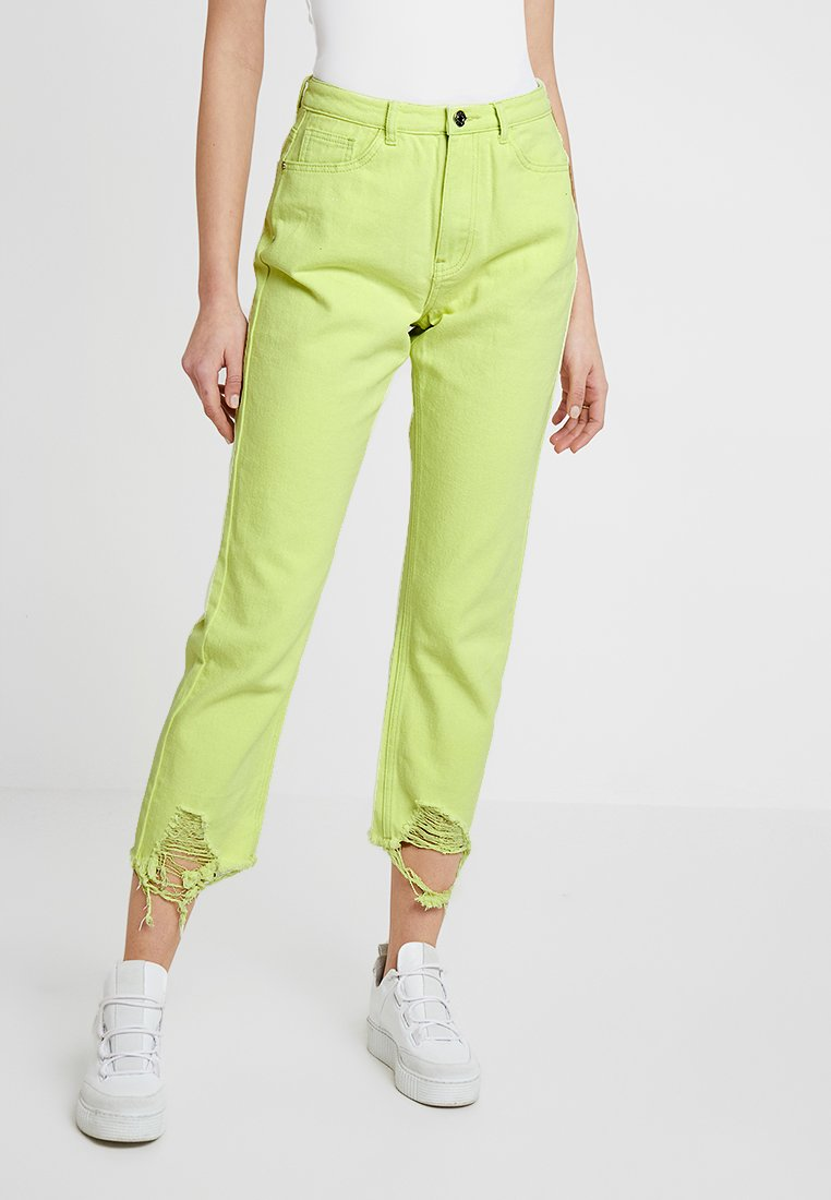 Missguided - DISTRESSED WRATH - Jeans Relaxed Fit - neon yellow