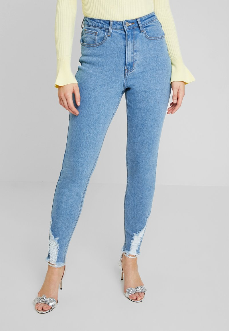 Missguided - SINNER HEM KEY SHOOT - Skinny-Farkut - light blue