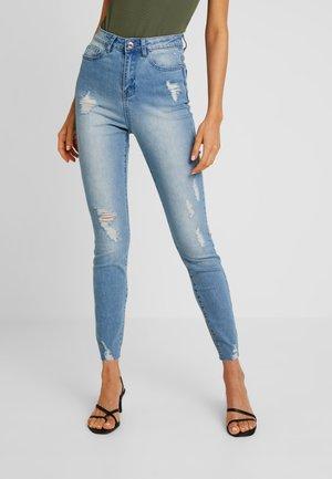 SINNER RAW HEM DISTRESS - Jeans Skinny Fit - light blue