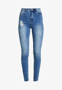 Missguided - SINNER CLEAN DISTRESSED - Skinny džíny - blue - 3