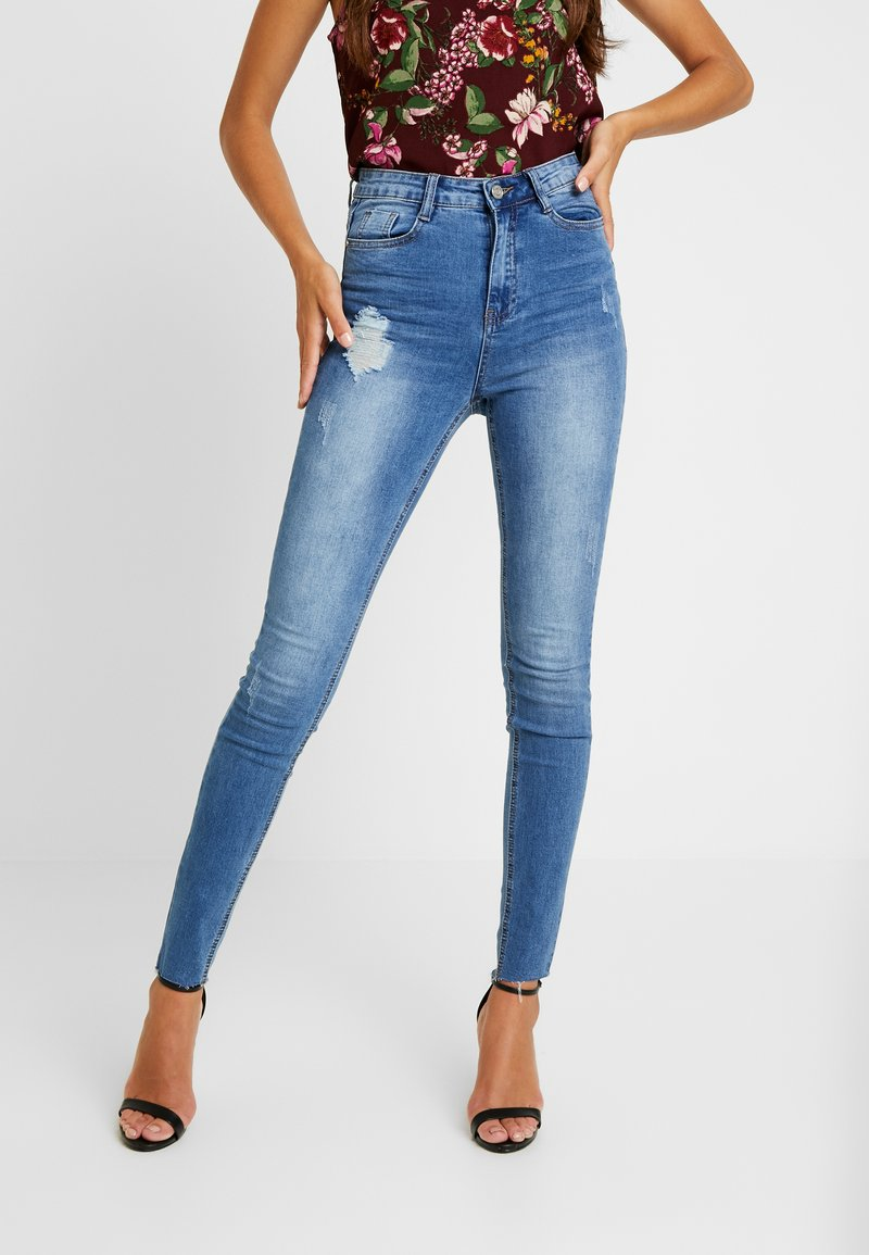 Missguided - SINNER CLEAN DISTRESSED - Skinny džíny - blue