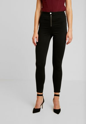 VICE BUTTON UP WITH ANKLE ZIP - Jeans Skinny - black