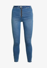 Missguided - VICE EXPOSED ZIP AND BUTTON WITH ANKLE ZIP - Vaqueros pitillo - blue - 3