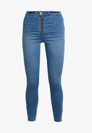 VICE EXPOSED ZIP AND BUTTON WITH ANKLE ZIP - Jeans Skinny Fit - blue