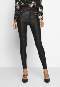 Missguided - VICEHIGHWAISTED  - Trousers - black - 0