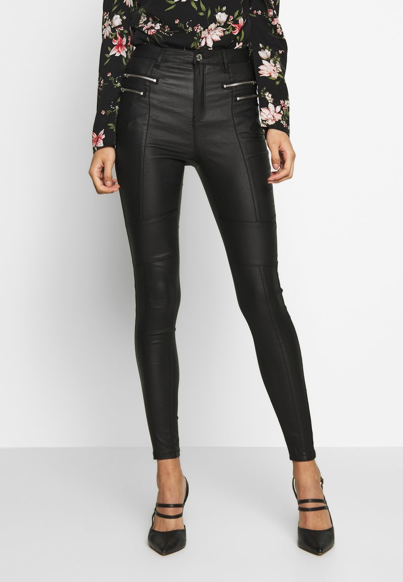 Missguided - VICEHIGHWAISTED  - Trousers - black