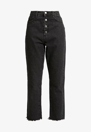WRATH BUTTON HIGH RISE STRAIGHT LEG - Jeans a sigaretta - black
