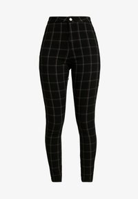 Missguided - VICE CHECKED HIGHWAISTED - Skinny-Farkut - black - 4