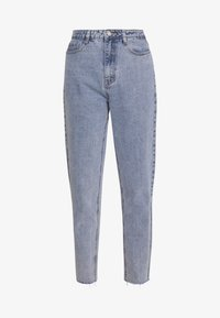 Missguided - STONEWASH RAW HEM - Jeans Tapered Fit - denim blue - 3