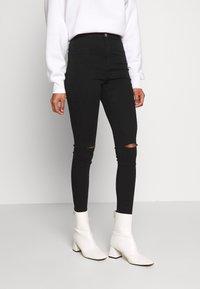 Missguided - VICE SLASH KNEE - Jeans Skinny - black - 0