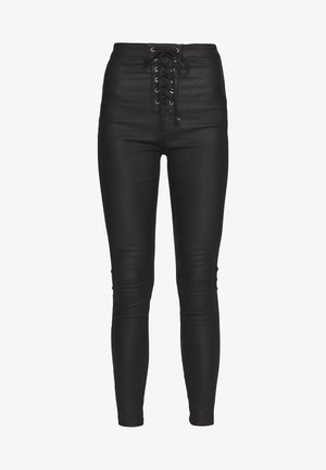 VICE COATED FRONT - Jeansy Skinny Fit - black