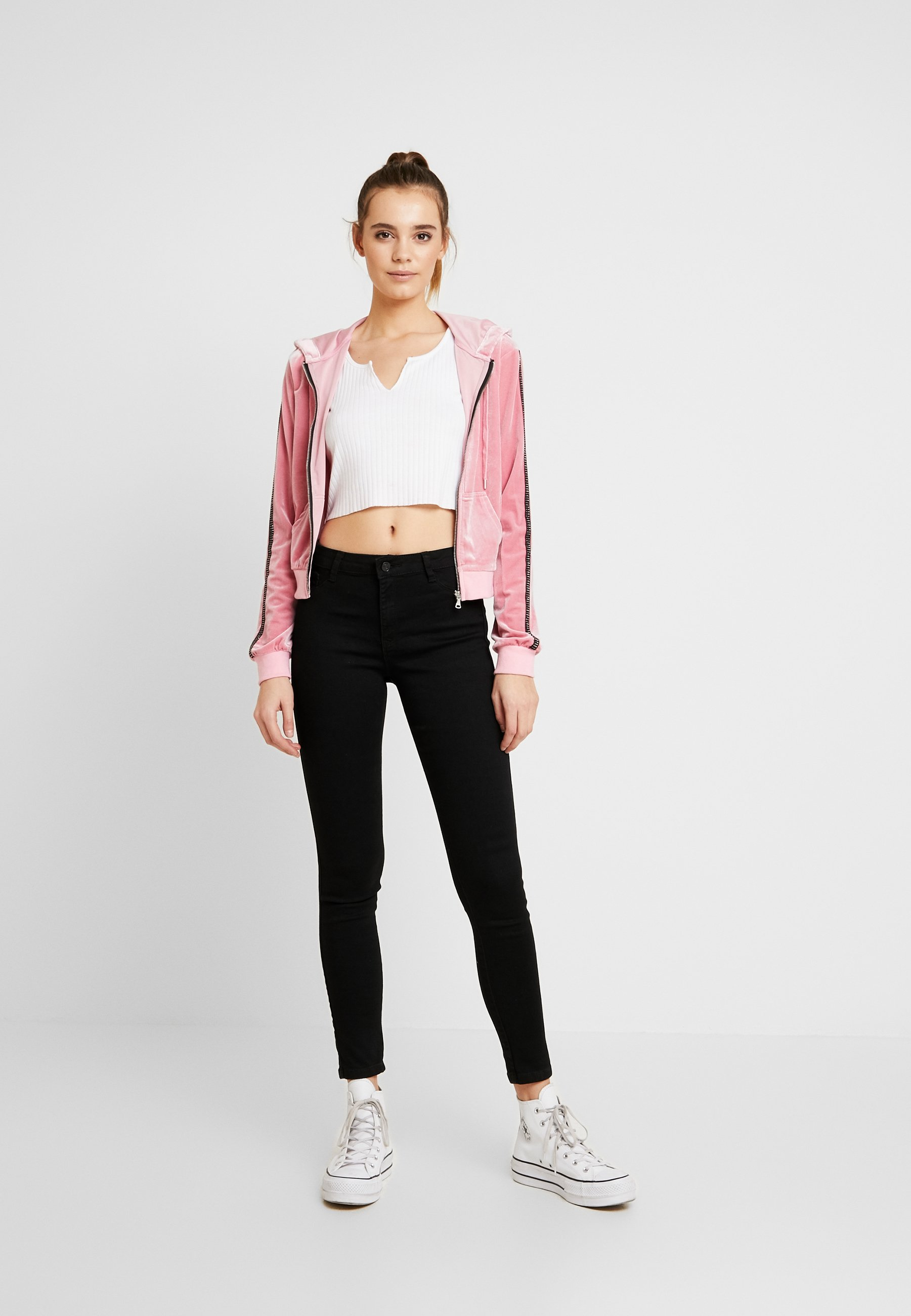Missguided ANARCHY MID RISE - Jeansy Skinny Fit - black