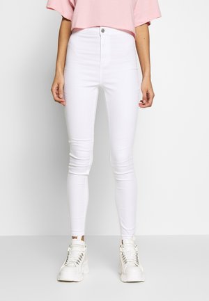 VICE HIGH WAISTED - Jeansy Skinny Fit - white