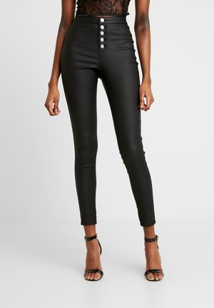 VICE HIGH WAISTED BUTTON DETAIL - Vaqueros pitillo - black