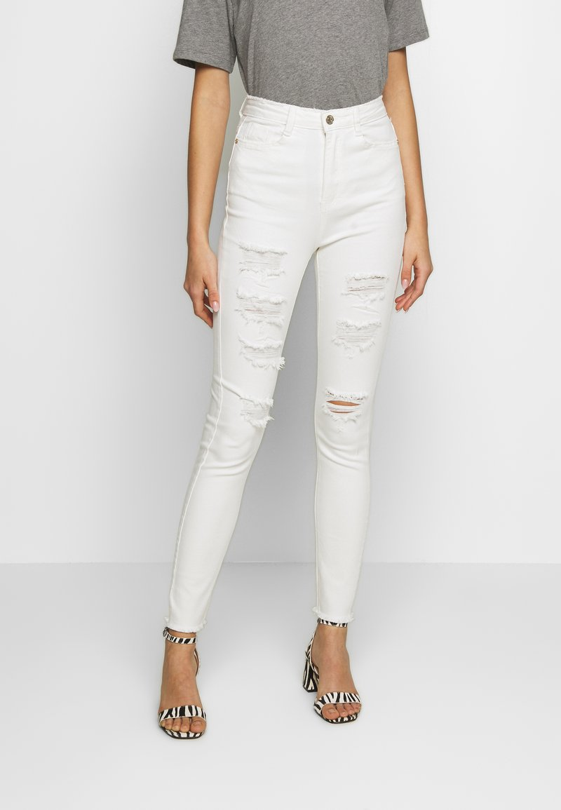 Missguided - SINNER EXTREME - Jeans Skinny - white