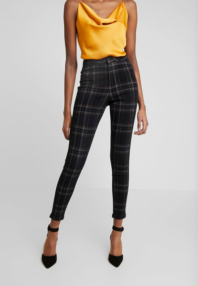 CHECK VICE CHECKED HIGHWAISTED - Jeans Skinny Fit - black