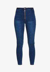 Missguided - VICE EXPOSED ZIP BUTTON DETAIL - Jeans Skinny - new indigo - 3