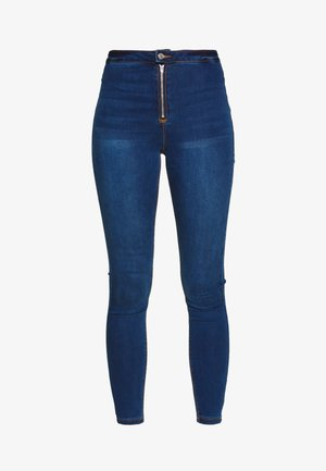 VICE EXPOSED ZIP BUTTON DETAIL - Jeans Skinny Fit - new indigo